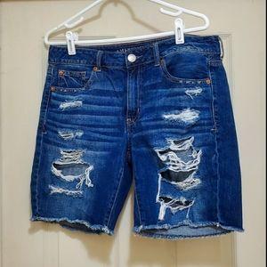 AE Distressed Long Shorts
